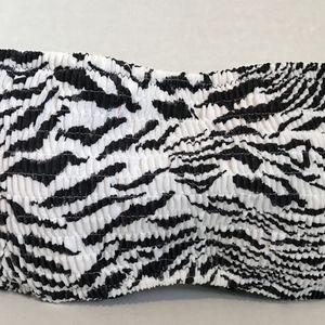 Victoria's Secret Zebra Smocked Lace Up Bandeau